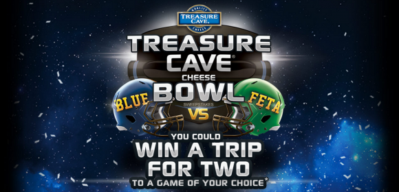 Treasure Cave Cheese Bowl Game Sweepstakes