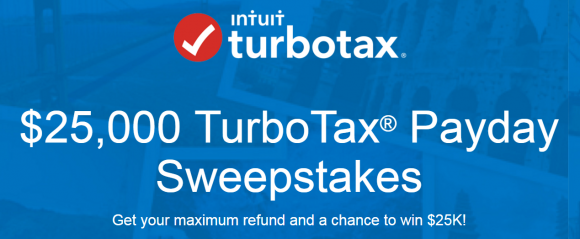 TurboTax $25,000 Payday Sweepstakes