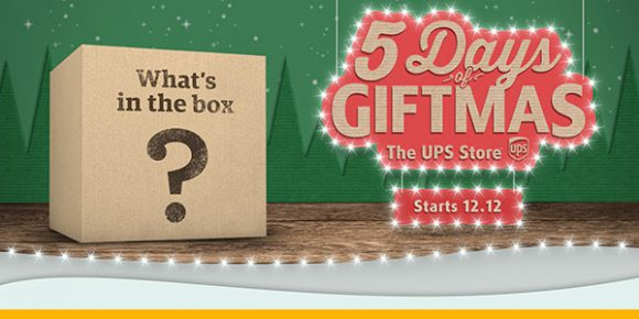 The UPS Store 5 Days of Giftmas Facebook Live Giveaways
