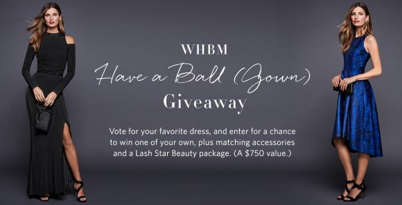 White House Black Market Have a Ball Gown Giveaway