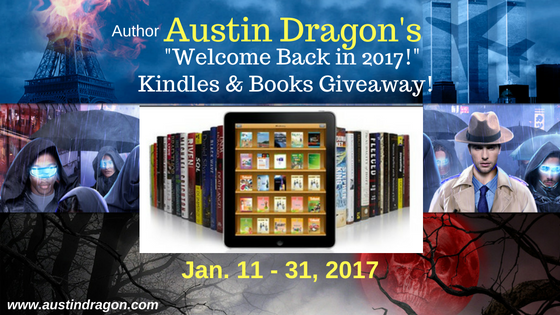 Author Austin Dragon Welcome Back Kindle Giveaway