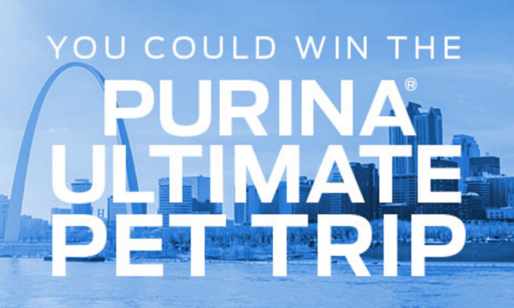 You and your pet could WIN the Purina Ultimate Pet Trip! Visit daily to enter to win the grand prize drawing for a chance to WIN an incredible weekend trip to St. Louis, designed to inspire a lifetime of well-being with your pet.
