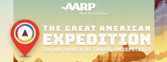 Take a tour of the United States and you could win $10,000 worth of travel from #AARP! We hope you brought your suitcase. The AARP Great American Expedition is here! Enter now and explore the six regions of the U.S., earning additional sweepstakes entries as you play trivia and share photos and stories.