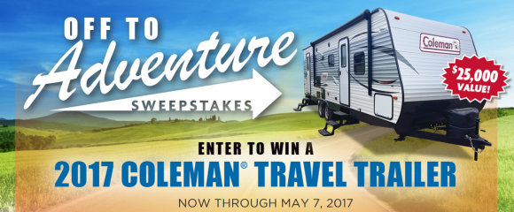 Win a Coleman RV from Camping World Off to Adventure Sweepstakes