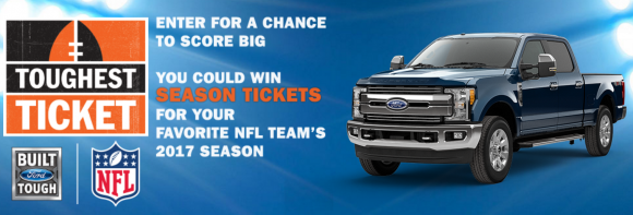 Ford Motor Company Toughest Ticket Season Ticket Giveaway