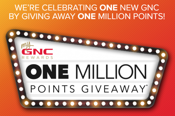GNC Rewards Million Points Giveaway