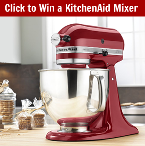 Click Here to Win a Kitchenaid Mixer