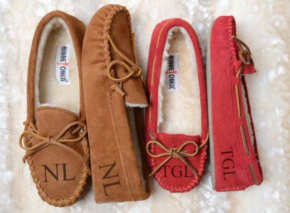 Enter to win a pair of Minnetonka monogrammed slippers personalized just for you. One winner will be selected each day January 9 - 22 to win their choice of monogrammed Cally or Piled Lined Slippers with up to three letters.