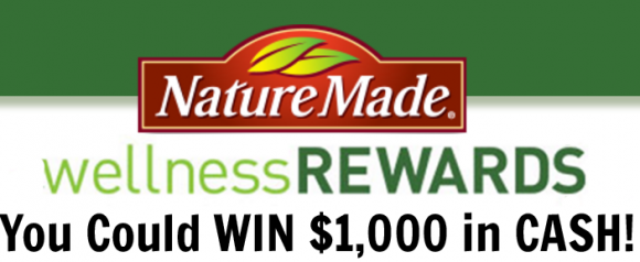 Enter your Nature Made codes for a chance to win $1,000 in cash. New winners will be chosen each month. Enter online or by mail.