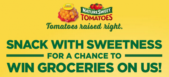 Enter the NatureSweet Tomatoes Snacking with Sweetness Sweepstakes for your chance to win one of 25 gift cards ranging in value from $100 to $1,000