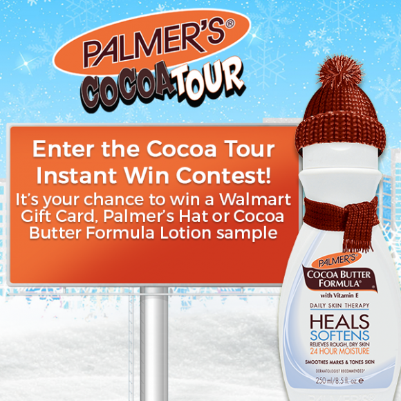 Palmer's Cocoa Tour Instant Win Game