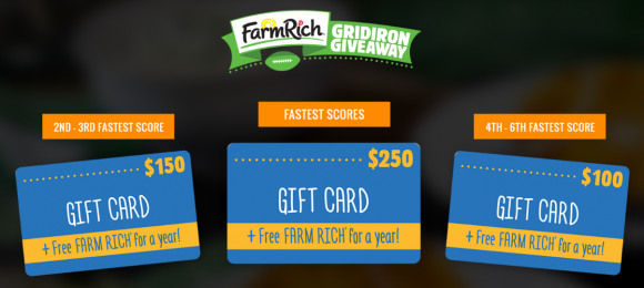 Farm Rich Gridiron Quikly Giveaway