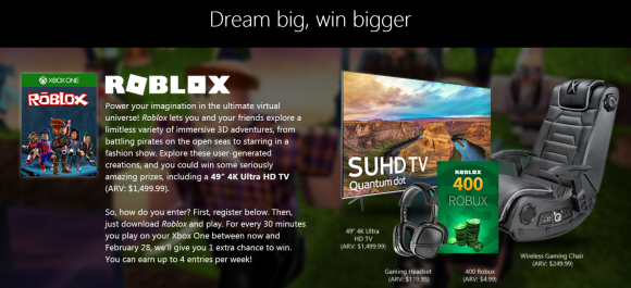 Roblox Free to Play Game title
