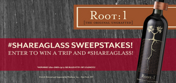 You could be 1 of 3 winners to receive a $500 travel voucher to #ShareAGlass of Root:1 Wine with your loved one! 100 randomly selected winners will also receive a limited edition Root:1 Wine tumbler.