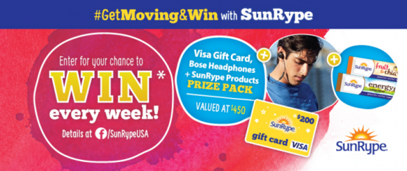 SunRype Get Moving and Win Giveaway