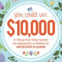 Shop Your Way Spring's Instant Sprout Instant Win Game 3/27/17 1PP18+