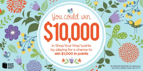 Shop Your Way Spring's Instant Sprout Instant Win Game