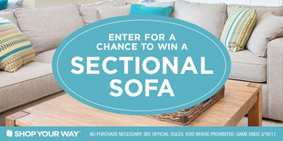 Shop Your Way Let's Talk About Sectionals Instant Win Game
