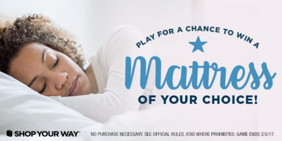 Shop Your Way Sweep Dreams Mattress Instant Win Game