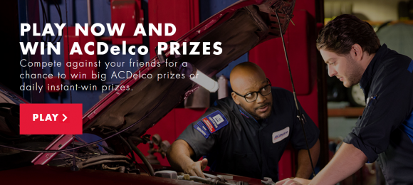 ACDELCO Garage Instant Win Game