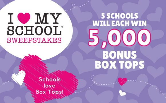 Five BTFE Schools will win 5,000 Bonx Box Tops 4 Education points in the Box Tops 4 Education I Love My School Sweepstakes