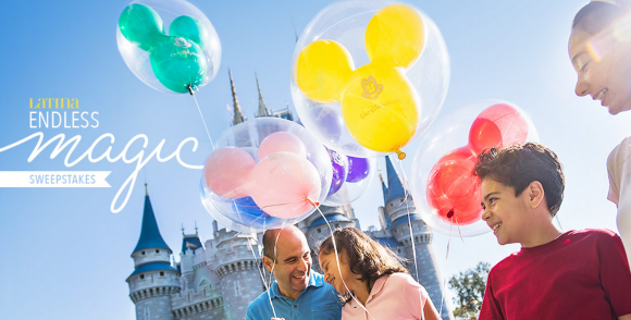Enter the Latina Endless Disney Magic Sweepstakes and you could win a trip for four to Disney World.