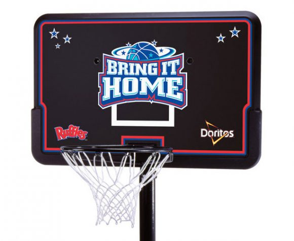 Doritos branded basketball goal