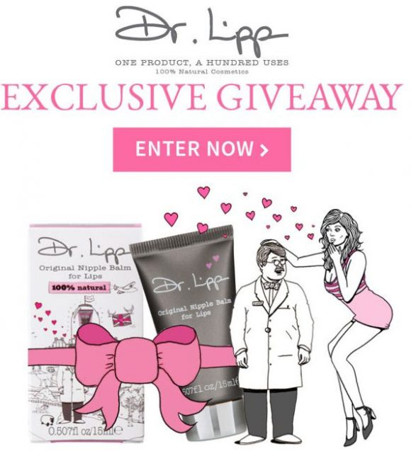 Click Here for your chance to win one of thirty 6-month supplies from Dr. Lipp, which consists of 5 full-size Lip balms