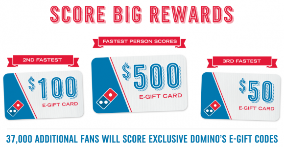 Quickly is giving away 37,000 Domino's gift card and your chance it coming up! Sign up and then share your unique link to earn time for an early head's up. You will get a text when the giveaway is going live. The more referrals you get, the faster your notification by text will be