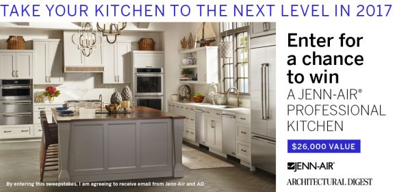 Need a New Kitchen? Enter the Jenn-Air Kitchen Sweepstakes and you could win a $26,000 Jenn-Air appliance makeover.