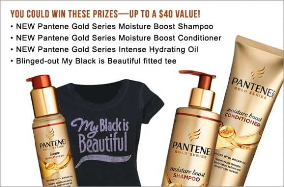 Enter for your chance to win 1 of 100 Pantene Pro-V prize packages from the P&G Everyday My Black is Beautiful Gold Series Sweepstakes