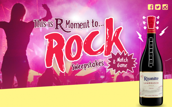 Riunite Lambrusco This Is R Moment To Rock Sweepstakes