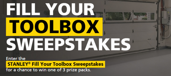 "Enter the new STANLEY Tool sweepstakes for your chance to ""fill your toolbox"" with Stanley tools worth up to $2,500"