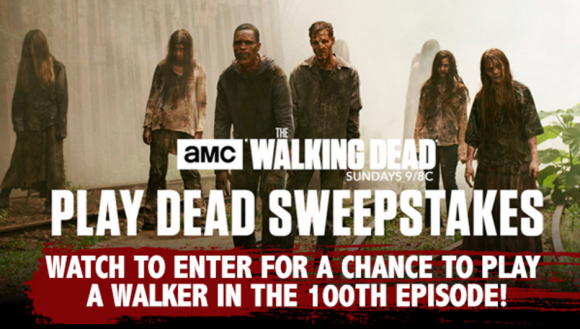 Click Here to get this week's The Walking Dead code word and enter for your chance to win a Walk-on role as a walker plus meet the cast and crew of The Walking Dead and a trip to the production set of The Walking Dead