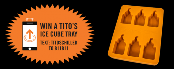 Enter to win 1 of 5,000 Tito's Vodka Custom Ice Cube Trays in Tito's Vodka Chilled Sweepstakes. Enter online or text to win!