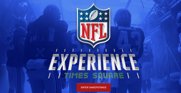 NFL Experience Times Square Opening Sweepstakes