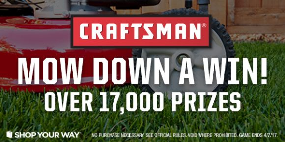 Shop Your Way Top Craftsman Mower Instant Win Game