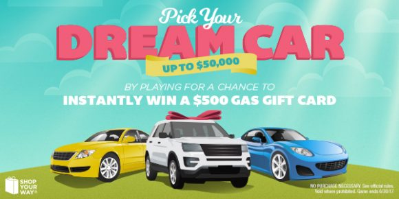 Shop Your Way $500 Gas Card Instant Win Game
