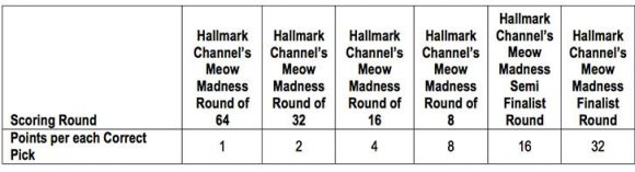 Hallmark Channel's Meow Madness Christmas Bracket Sweepstakes