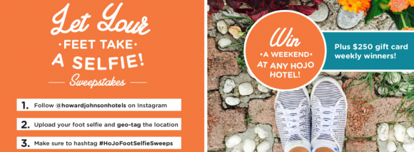 HoJo Foot Selfie Instagram Sweepstakes