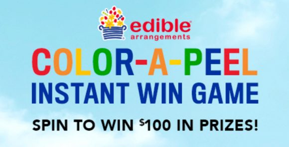 Spin everyday for a chance to win! $50 gift card from The Children's Place + $50 gift voucher from Edible Arrangements
