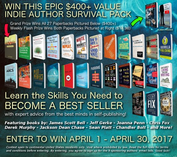 Enter to win an Indie Author Survival Pack worth over $400 that teaches you how to write, edit, self-publish, and market your books!