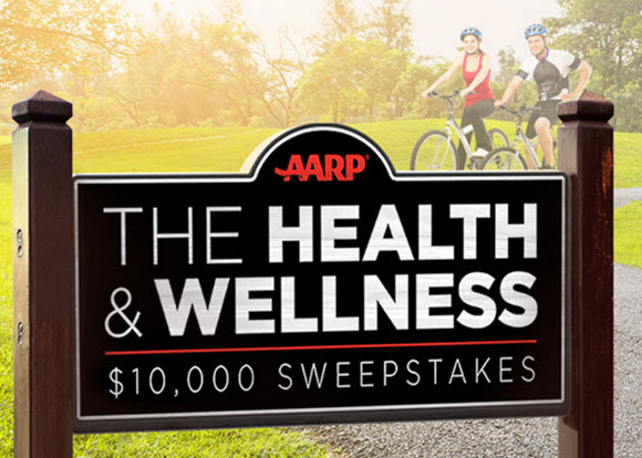 You could win $10,000 by entering the AARP Health and Wellness Sweepstakes and touring through the virtual town, earning additional entries along the way PLUS, return each day for a new chance to win a $25 prepaid gift card.