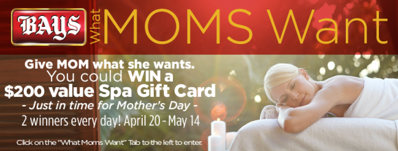 Bays English Muffins What Moms Want Giveaway