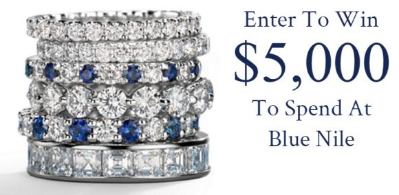 Blue Nile is giving away $5,000 worth of jewelry. That's right, $5,000 for diamonds, gems, or a whole lot of jewelry cleaner.