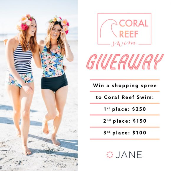 Jane.com is giving away Coral Reef Swimwear gift cards in this week's giveaway. Enter now for your chance to win. They are gifting 3 lucky winners a shopping spree to get suits, cover-ups, and accessories galore just in time for the sun to peak out. Sound like your kinda thing? Then enter for a chance to win!