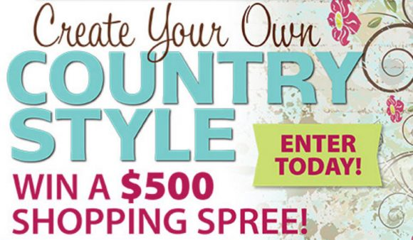 Country Sampler Magazine is giving away $500 to one lucky winner and ten one-year magazine subscriptions. Enter online or by mail