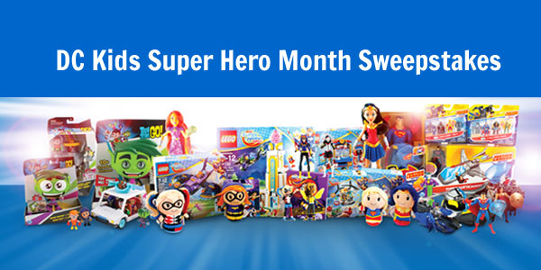This is your chance to be a Grand Prize winner or win one of 3 other DC Comic prizes. In Celebration of DC Kids Super Hero Month, this is your chance to bring home an epic prize pack that includes prizes from DC Super Hero Girls, Justice League Action and Teen Titans Go!