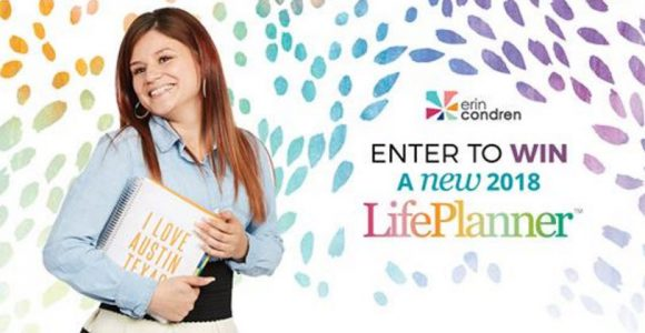 Here's your chance to win the ultimate #ECLifePlanner from Erin Condren Designs! 25 lucky winners will be selected to win a NEW 2018 LifePlanner just in time for launch.