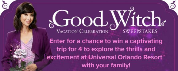 You could win a 3-night trip for four to experience it all for you and 3 friends if you enter and win the Hallmark Channel Good Witch Vacation Celebration Sweepstakes and are chosen as the grand prize winner.